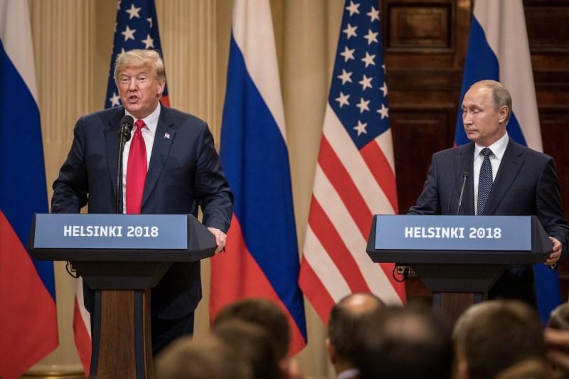 U.S. President Donald Trump (left) and Russian President Vladimir Putin