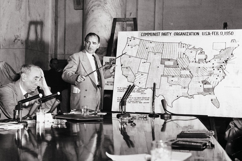 Sen. Joseph McCarthy testifies.