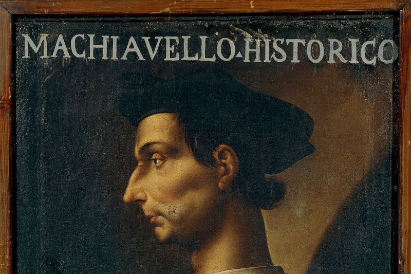 A portrait of Niccolò Machiavelli.