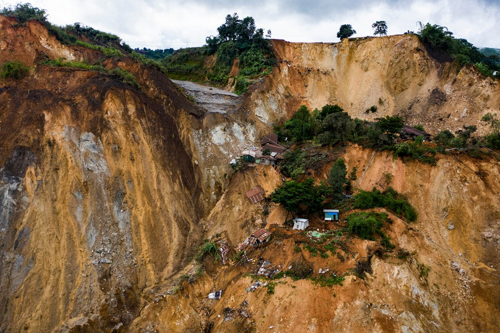 A recent landslide at Gwi Hka jade mining site in Myanmar.