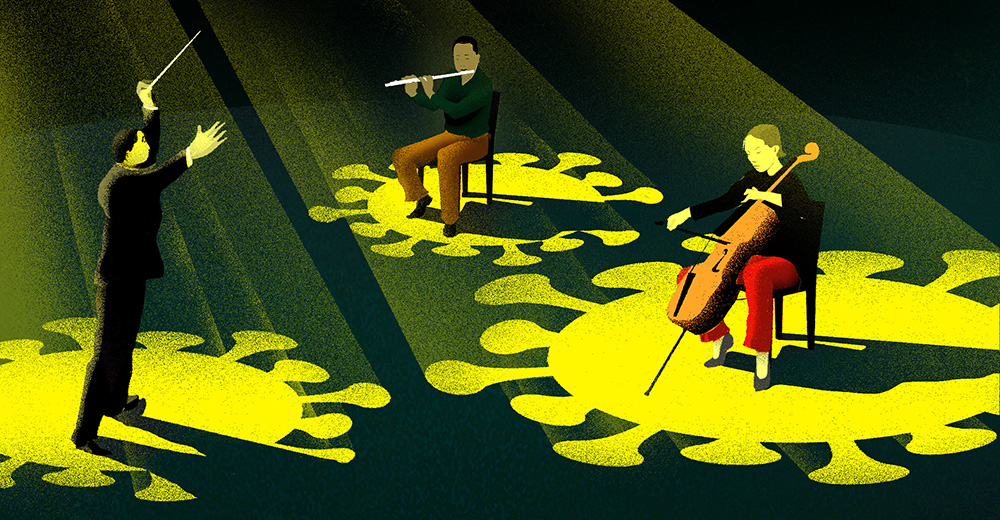 coronavirus-culture-entertainment-sports-Brian-Stauffer-illustration-orchestra_final2