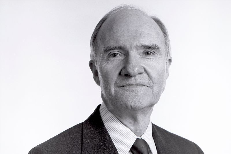 A portrait of Brent Scowcroft in the offices of a midtown law firm in New York City on Feb. 4, 1988.