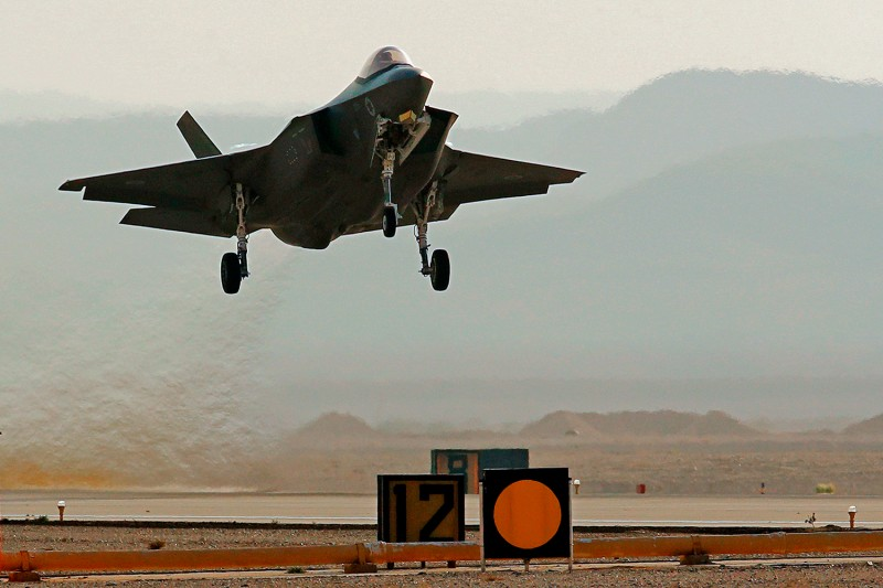 An Israeli F-35I fighter jet takes part in a multinational air defense exercise at the Ovda Air Force Base, north of the Israeli city of Eilat, on Nov. 11, 2019.