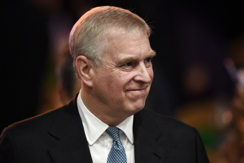 Britain's Prince Andrew leaves after speaking at the ASEAN Business and Investment Summit in Bangkok on Nov. 3, 2019.