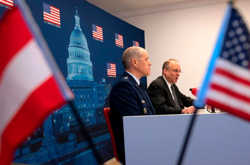 Top U.S. arms negotiator Marshall Billingslea and Air Force Lt. Gen. Thomas Bussiere