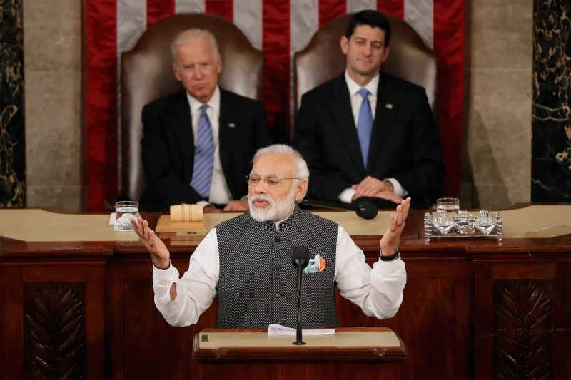 Indian Prime Minister Narendra Modi at the U.S. Congress