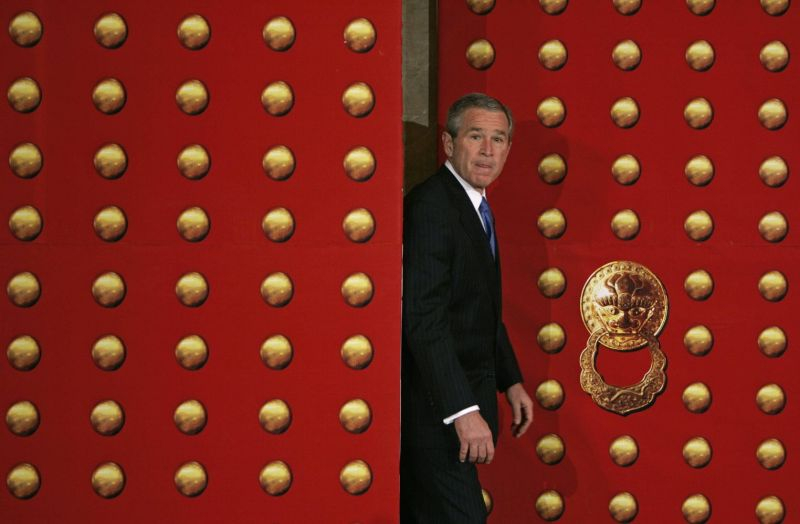 U.S. President George W. Bush in China