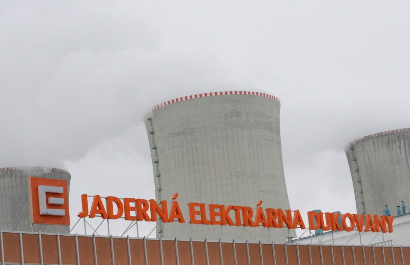 The cooling towers of the Dukovany nuclear power plant are seen during a nuclear accident exercise near Brno, Czech Republic, on March 26, 2013.