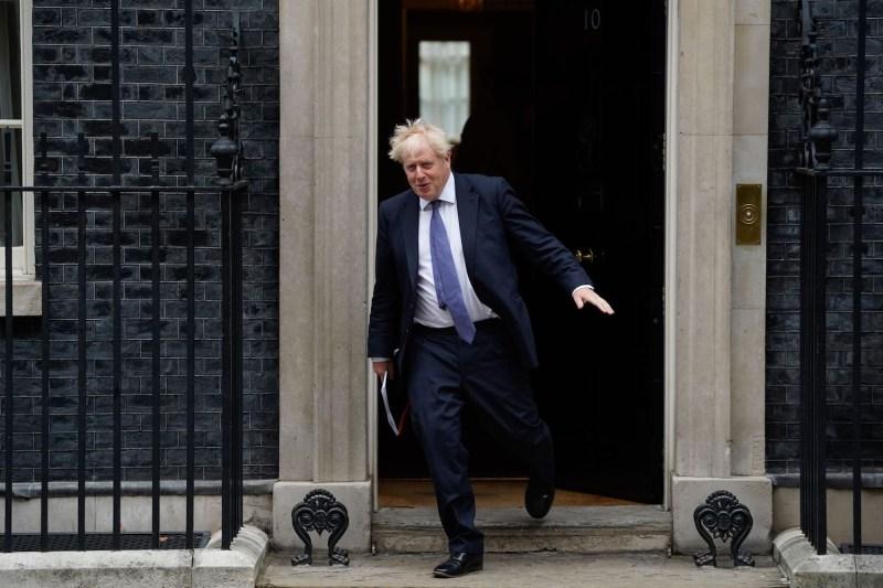 British Prime Minister Boris Johnson leaves Np. 10 Downing Street on Sept. 8.