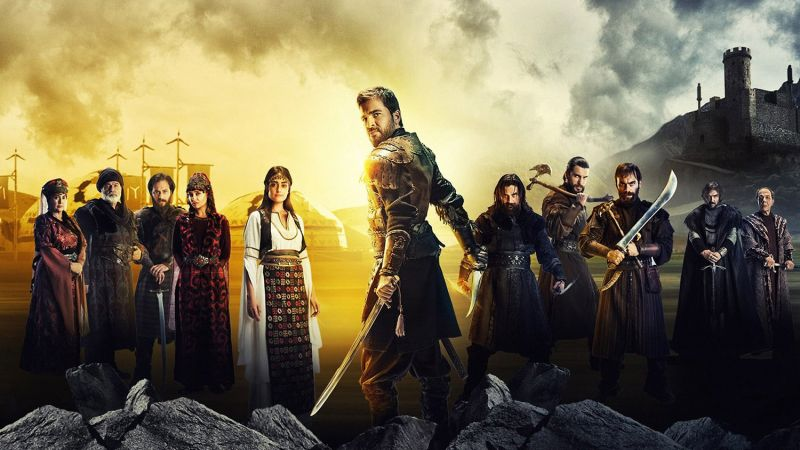 A promotional photo from the Turkish TV show Dirilis: Ertugrul.