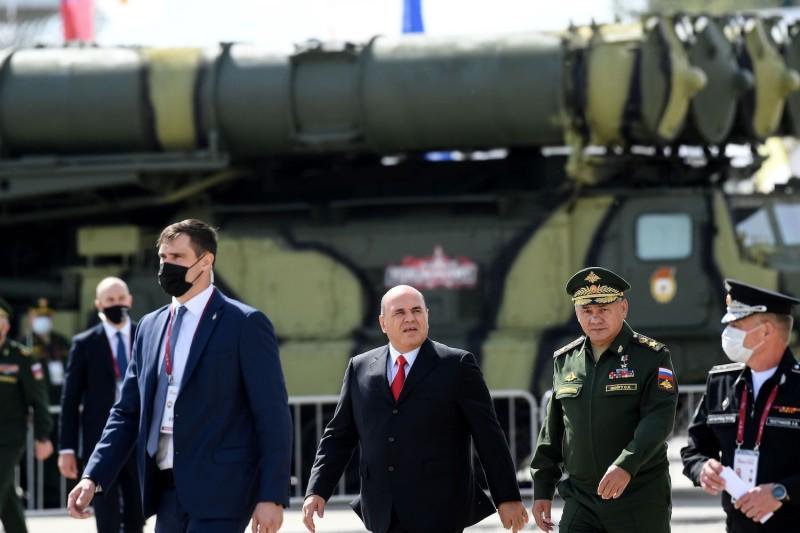 Russian Prime Minister Mikhail Mishustin attends the opening ceremony of the 6th International Military Technical Forum 'Army 2020' and Army Games.