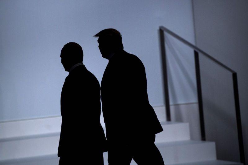 Russia's President Vladimir Putin (left) and U.S. President Donald Trump