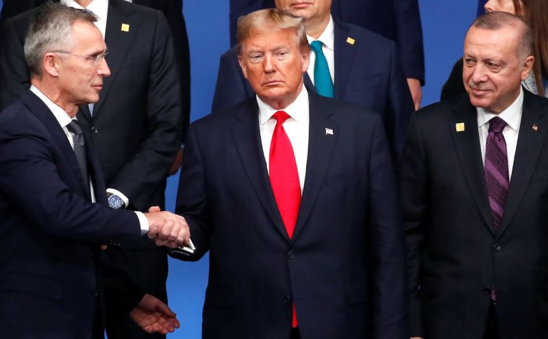 NATO leaders meet at a NATO summit in London in 2019.