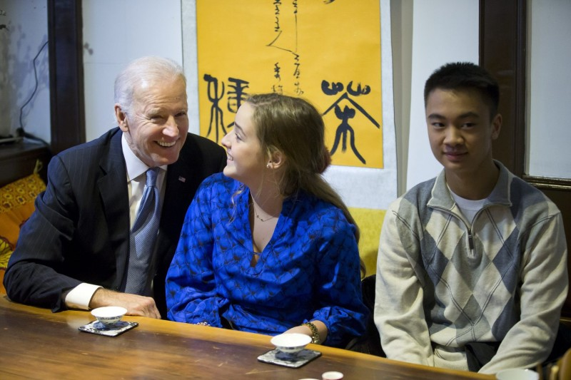 Joe Biden and his granddaughter in Beijing