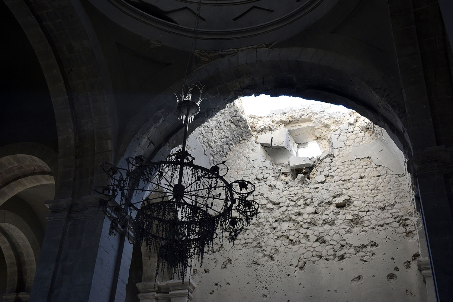 The Shushi church was partially destroyed in a recent Azerbaijani attack.