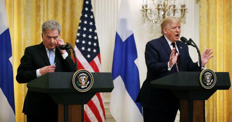 Finnish President Sauli Niinisto and U.S. President Donald Trump