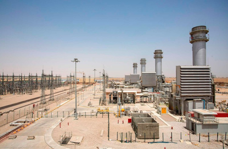 A power plant in the southern Iraqi city of Samawah.