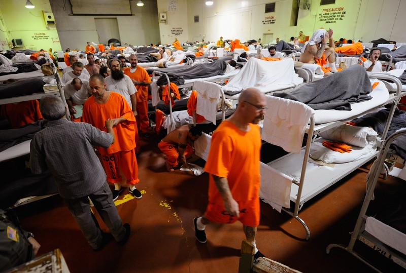 Inmates at at Chino state prison in California