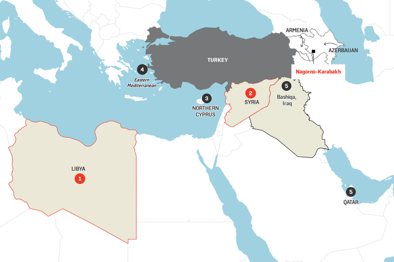 A map of Turkey's military entanglements