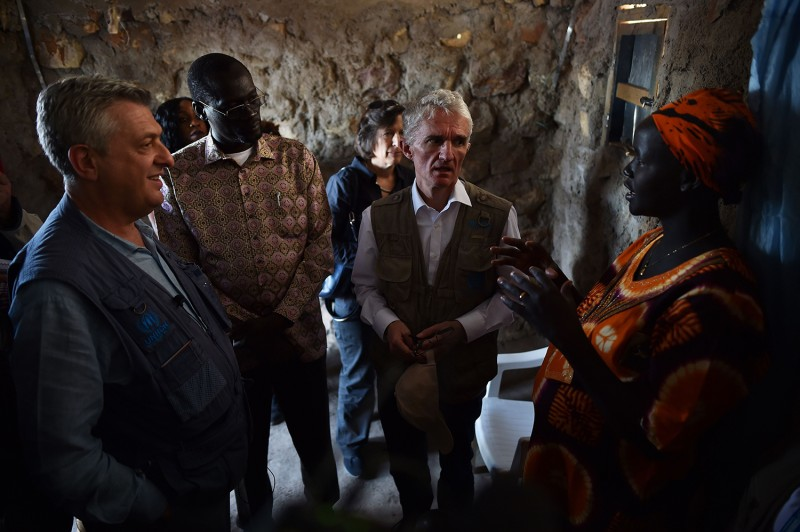 Top U.N. officials visit a refugee settlement in Kenya