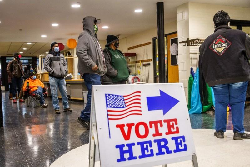 Voters cast their ballots in Minneapolis, Minnesota on Nov. 3.