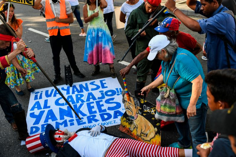 Supporters of Venezuelan President Nicolás Maduro