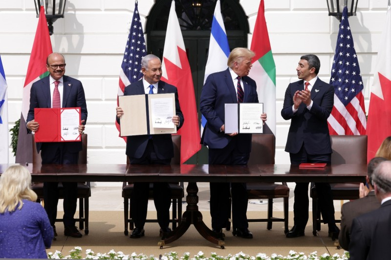 U.S. President Donald Trump hosts Middle East leaders at the White House