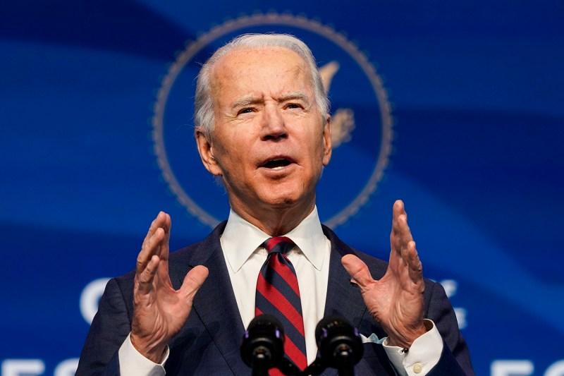 President-elect Joe Biden speaks in Wilmington, Delaware, on Dec. 19, 2020.