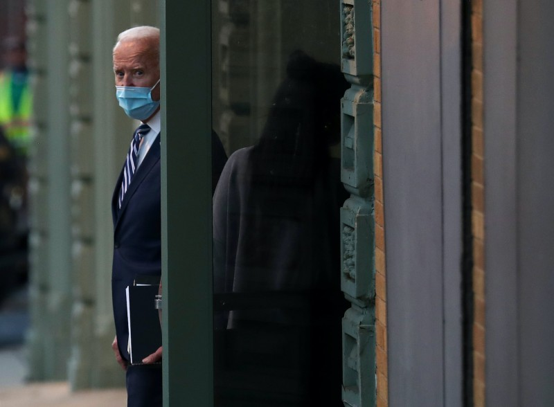 President-elect Joe Biden is seen in Delaware.