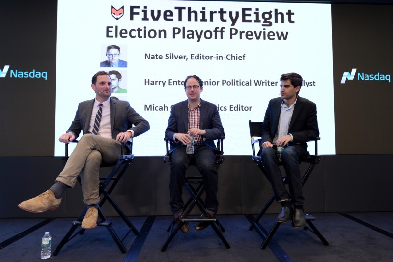 Micah Cohen, Nate Silver, and Harry Enten