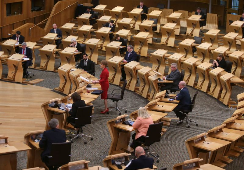 First Minister Nicola Sturgeon attends First Minister's Questions at the Scottish Parliament on Nov. 26.