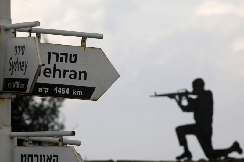 A cutout of an Israeli soldier