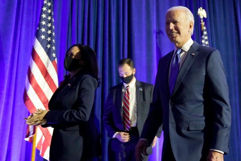 Democratic presidential nominee Joe Biden and vice presidential nominee Sen. Kamala Harris