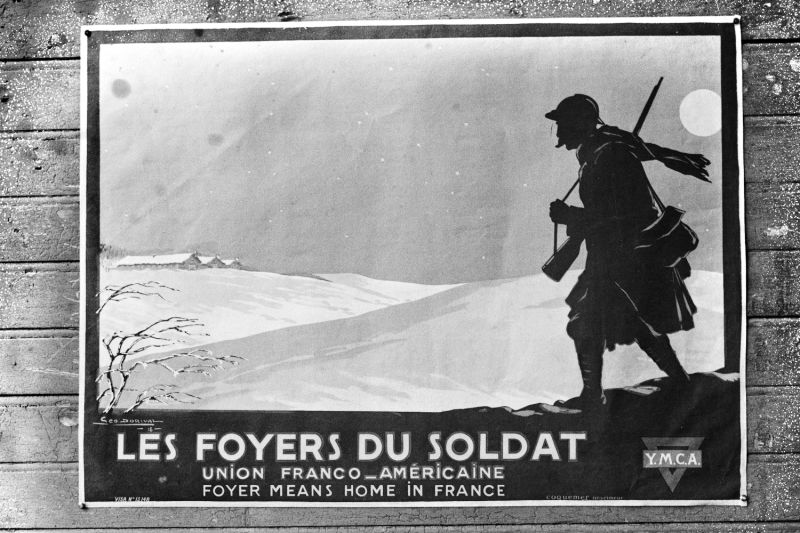 An undated poster, circulated during World War I, by the Franco-American Union.