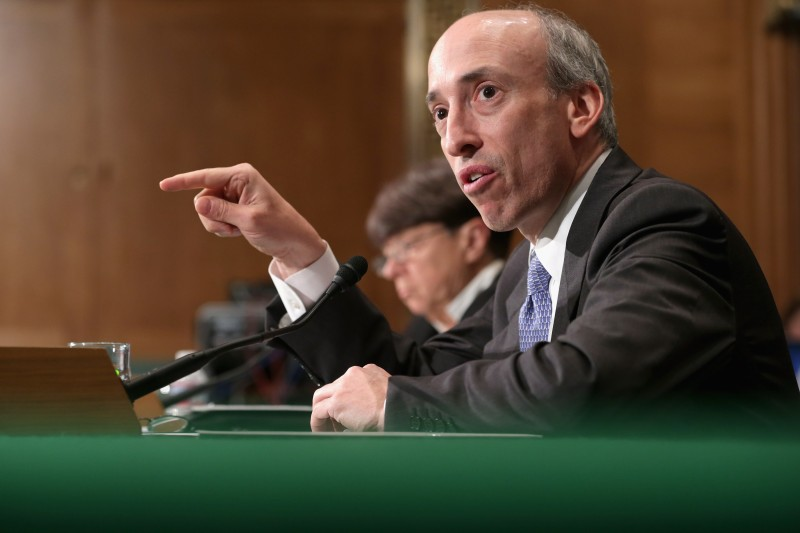 Then-Commodity Futures Trading Commission Chairman Gary Gensler
