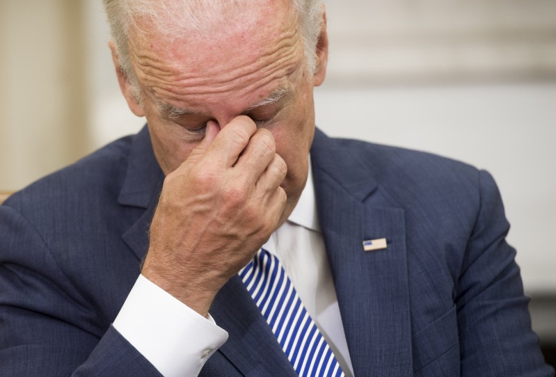 Joe Biden at a meeting about a mass shooting in Orlando, Florida, in the Oval Office of the White House in Washington June 13, 2016.