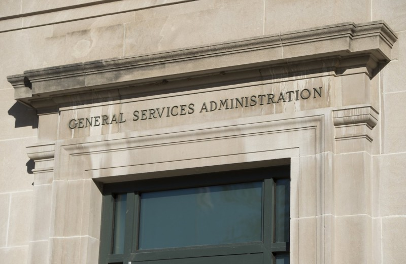 The General Services Administration (GSA) Headquarters building, where the Washington presidential transition offices for US President-elect Donald Trump are located, are seen in Washington, DC, November 21, 2016.