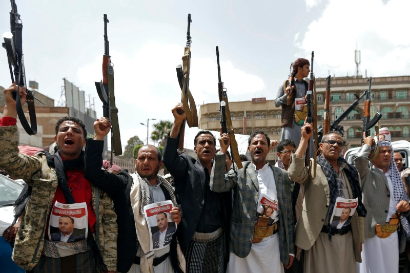 Supporters of Yemen's Houthi rebels