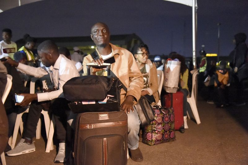 A group of Nigerians repatriated from South Africa