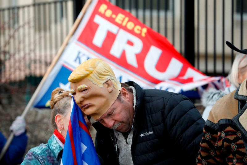 Supporters of U.S. President Donald Trump