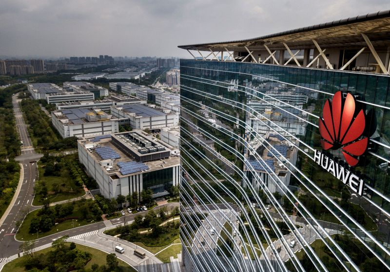 The Huawei production campus in Dongguan, China, on April 25, 2019.