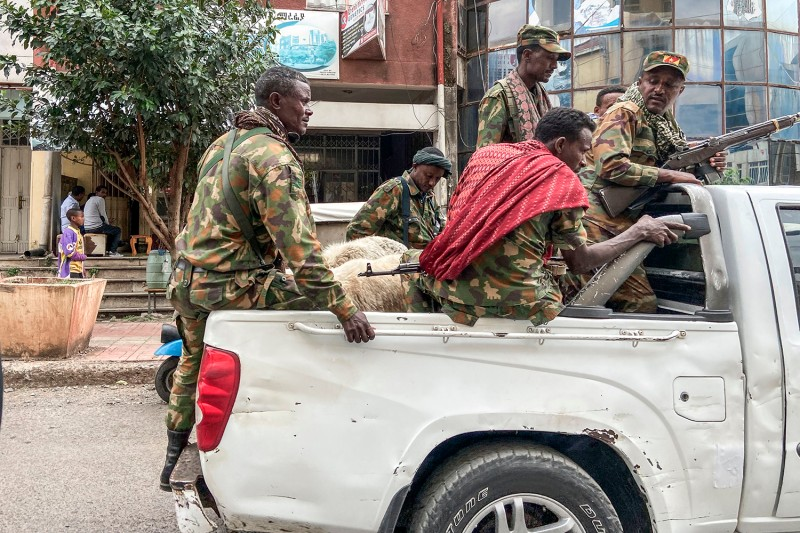 Members of the Amhara militia