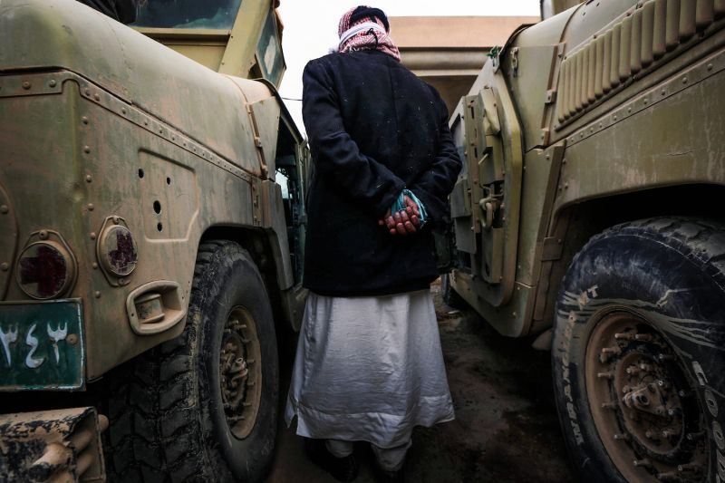 A suspected Islamic State jihadi in Iraq