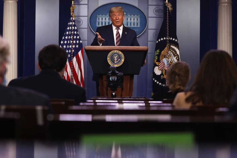 U.S. President Donald Trump speaks in the press briefing room at the White House on Nov. 5.