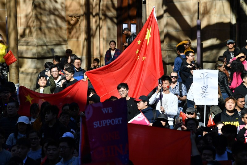 Pro-China activists in Australia