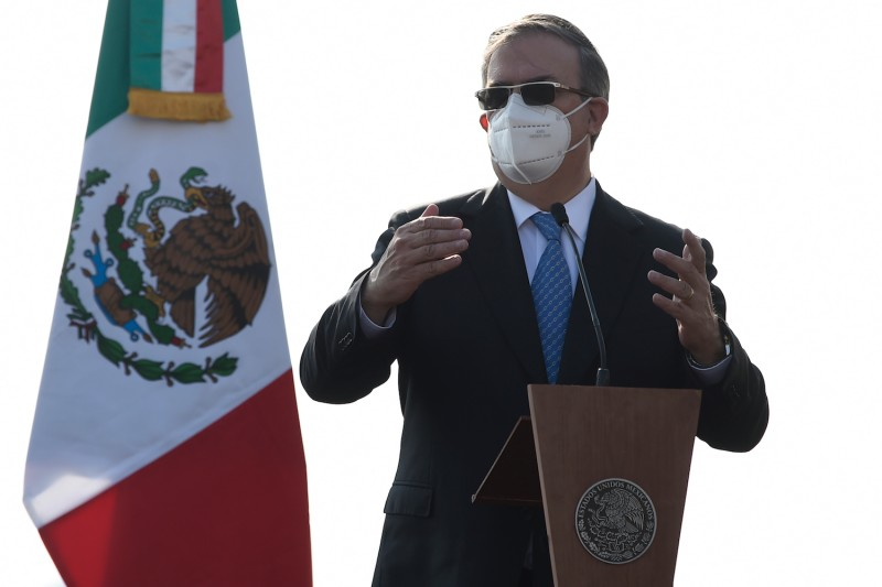 Mexican Foreign Minister Marcelo Ebrard speaks in Mexico City on Dec. 23.