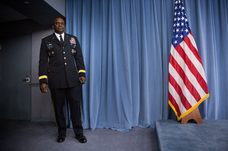 Lloyd Austin  prepares to hold a media briefing on Operation Inherent Resolve, the international military effort against ISIS on Oct. 17, 2014 at the Pentagon in Washington.