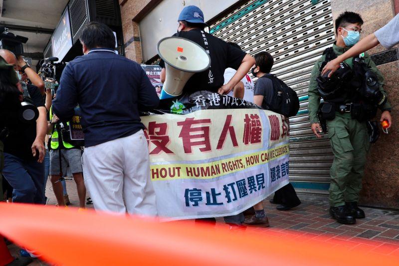 Pro-democracy activists in Hong Kong