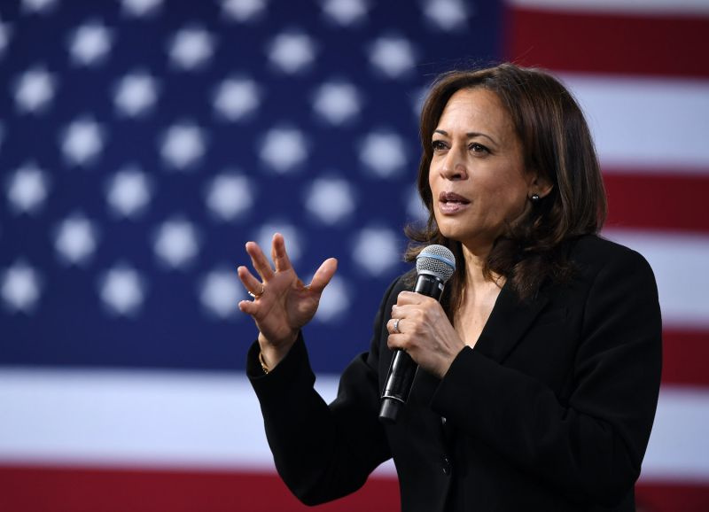 Vice President-elect Kamala Harris speaks at an event in Las Vegas.