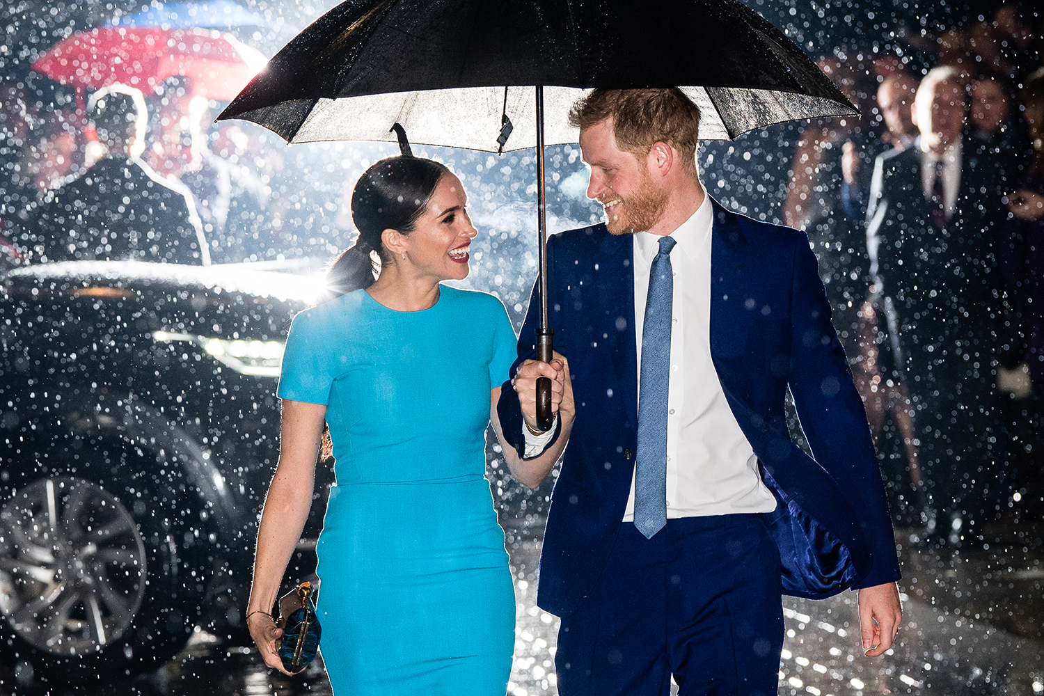The looks of love. Prince Harry, Duke of Sussex, and Meghan, Duchess of Sussex, attend the Endeavour Fund Awards at Mansion House in London on March 5. Samir Hussein/WireImage